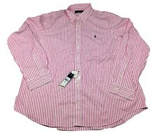 Polo Ralph Lauren Classic Fit Striped Shirt Button Down Pink Men's Size XXL