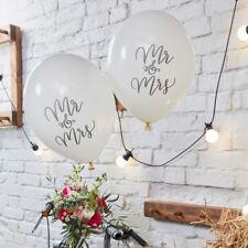Luftballon Luftballons 'Mr & Mrs' Boho (10 Stück) Hochzeit Hochzeitsdeko Vintage