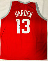 Houston James Harden Signed Home Red Jersey Auto - Beckett BAS COA