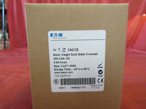 EATON C441CB OverLoad   480V 5-90 Amp Style 3-2371-002A   New in Box