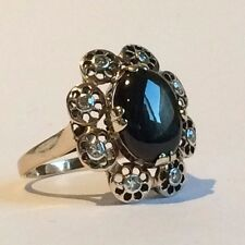Antique  Diamond and STAR Sapphire ring in 9 ct rose Gold