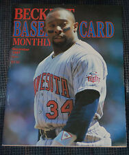 Beckett  Baseball Card Monthly December 1987 Kirby Pucket  on Cover #34