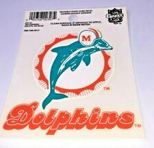 "Miami Dolphins 3""x 3"" Car Decal NFL Static Cling Auto Emblem Sticker NEW"