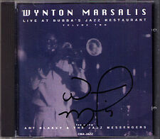 Wynton MARSALIS Signed LIVE AT BUBBA'S JAZZ RESTAURANT (2) Bitter Dose Gypsy CD