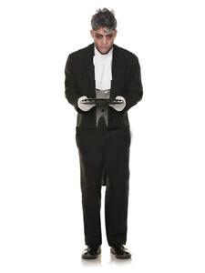 Tuxedo Costume Adult Halloween Cosplay Bachelor Party 2nd Skin BODY SUIT Butler