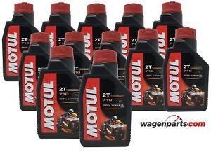 Aceite Moto 2T Mezcla PREMIX 100% sintetico Ester MOTUL 710 2T, pack 12 litros