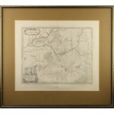 Fine Framed Antique Map Saxony-Anhalt Germany Jodocus Hondiius C19th Repro