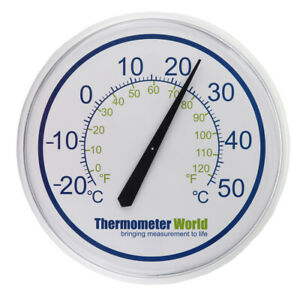 LARGE OUTDOOR THERMOMETER WALL GARDEN PATIO INDOOR OUTSIDE GREENHOUSE - IN-036