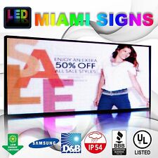 "LED Sign Full Color Programmable Message LED Display Size 41"" x 79"" Outdoor Sign"
