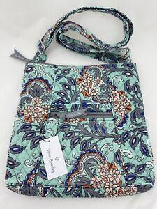 Vera Bradley Hipster Crossbody Purse Shoulder Bag Tote Fan Flowers $75 NWT