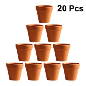 20pcs Red Pottery Flower Pot Terracotta Pot with Hole Pottery Clay Planters for