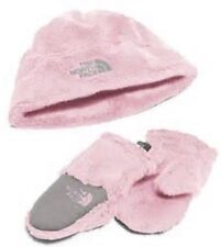 North Face BABY OSO CUTE COLLECTION Coy Pink Girl XS 6-24mths NWT Mitten Hat Set