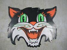 Vintage 1940's/50's Die Cut Embossed Cardboard Halloween Green Eye Cat Beistle