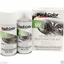 Duplicolor HLR100 Clean Headlight Restoration Aerosol Spray & Clear Coating Kit