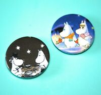 Set Of 2 Moomin Troll Night Fall The Moomins Button Pin Bagdes
