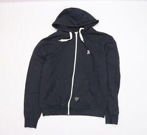 Lambretta Mens Blue  Jersey Full Zip Hoodie Size XL