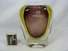 Beautiful coloured  Seguso Vetri d´Arte Murano glass Glas vase Italy 16 cm