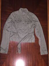 Fossil Women's Long Sleeve Pull Button Down W/ Attached Belt Green Size S