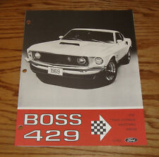 1969 Ford Mustang Boss 429 Sales Brochure 69