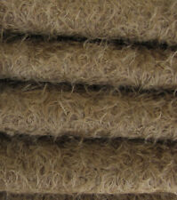 """1/4 yd 325S/Cm Mink Intercal 5/8"""" Semi-Sparse Curly Matted Mohair Fur Fabric"""