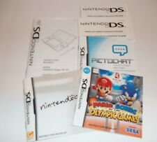 NINTENDO DS MANUAL ONLY Nintendogs Mario Sonic Olympics Pictochat Instructions