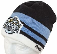 NHL WINTER CLASSIC HOCKEY KNIT BEANIE HAT CAP - PENGUINS CAPITALS 2011 NO CUFF