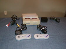 SNES System Console Super Nintendo Bundle 2 controllers hook ups WORKS WELL