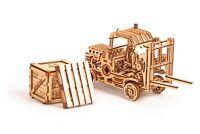 Wood Trick Forklift Car Truck Mechanical Wooden 3D Puzzle Model Assembly DIY Kit