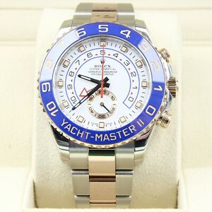 Rolex Yacht-Master II 2 - Steel & 18k Rose Gold 116681 Box & Papers
