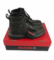 """Wolverine Boots Mens Floorhand Waterproof Steel-Toe 6"""" Work Boot Brown Size 14"""