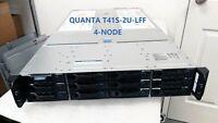 QUANTA T41S-2U-LFF 4-NODE 12X 3.5 Bays LFF RACKMOUNT SERVER barebone.