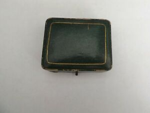 an antique green leather covered stud box - henry hird ambleside