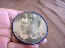 "VINTAGE JOHN F KENNEDY ""THE MAN FOR THE 60'S"" MULTI VIEW POLITICAL PIN"