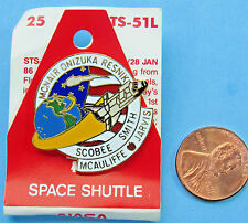 NASA official enamel PIN vtg STS-51L Space Shuttle CHALLENGER McNair McCauliffe