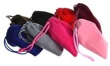 "(10 PACK) VELVET BAGS 4"" x 3.5"" plush party favor wedding gift jewelry pouch"
