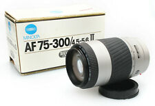 Minolta AF 75-300mm f/4.5-5.6 II Zoom Lens - Minolta Alpha A Mount -Boxed w/Caps