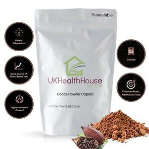 Raw Certified Organic Cocoa/Cacao Powder - Peruvian -  Superfood - Pure