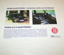 Prospekt / Broschüre PKW Tatra 613-4 Electronic Limousine nicht nur für Minister