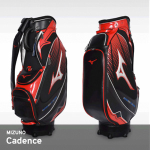 Mizuno 2018 Cadence CB Men's Caddie Bag Cart 9.5In 3.5Kg PU Free EMS Black / RED