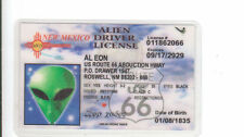 Route 66 UFO ALIEN State of New Mexico  RT 66 collectors card Drivers License