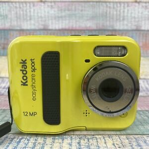"Kodak easyshare sport C123 12MP Unterwasserkamera 3M Video 2,4"" LCD Neongelb"