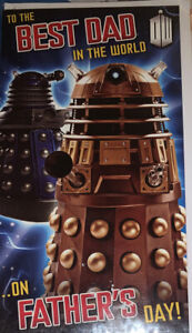 Dad On Father's Day Card Doctor Who