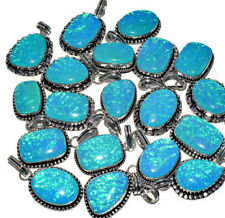 New !! 200 PCs. Lot AUSTRALIAN OPAL 925 Sterling Silver Plated Necklace Pendant