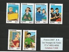 FRANCE 2007...4051-4056...MNH ** Les Voyages de Tintin...YT 7,50€