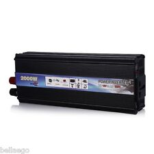 2000W Car Vehicle DC 12V AC 220V Power Inverter Converter Electronic USB Port