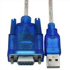 1X Blue USB 2.0 to Serial RS232  Female 9 Pin Adapter Converter Data Cable 1M