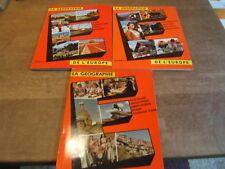 """3 Album chromos timbre tintin """" géographie de l'Europe"""" tome 2-3-4 complet"""