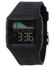 Rip Curl Rifles Tide A1119-MID Black Polyurethane Digital Quartz Mens Watch-NEW