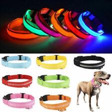 Collar ligero para perro Collar para perro 3 colores Noche ajustable Collar LED