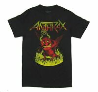 Anthrax NOT Devil Ring of Fire Dance Black T Shirt New Official
